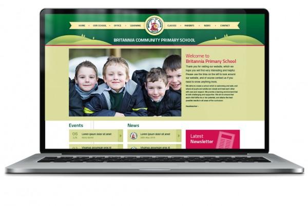 Britannia Primary School Responsive Website Design