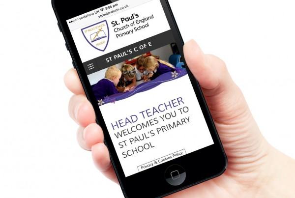 St Paul's Nelson Primary School Responsive Website Design