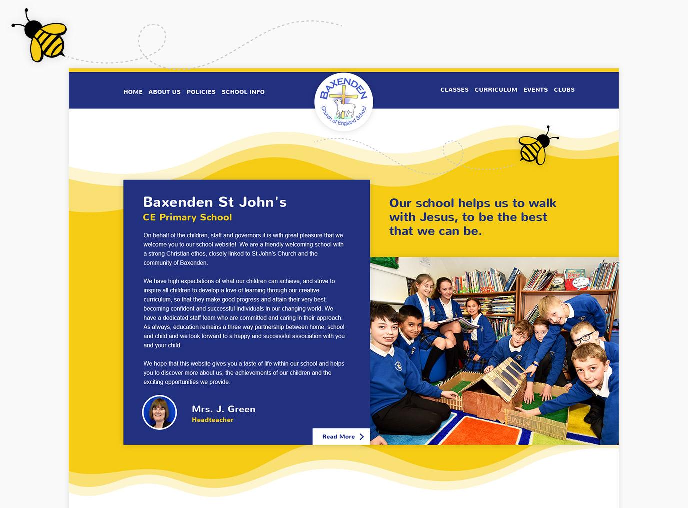 Baxenden St Johns Primary School Website Design