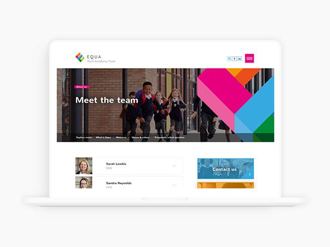 Equa Multi Academy Trust Team Page Design