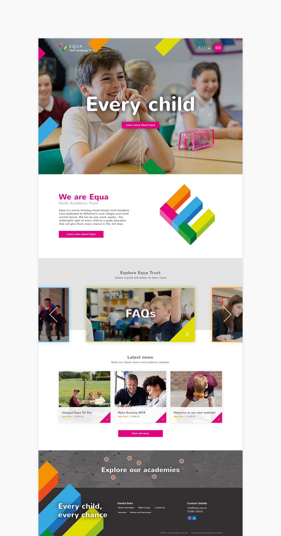 Equa Multi Academy Trust Website Design