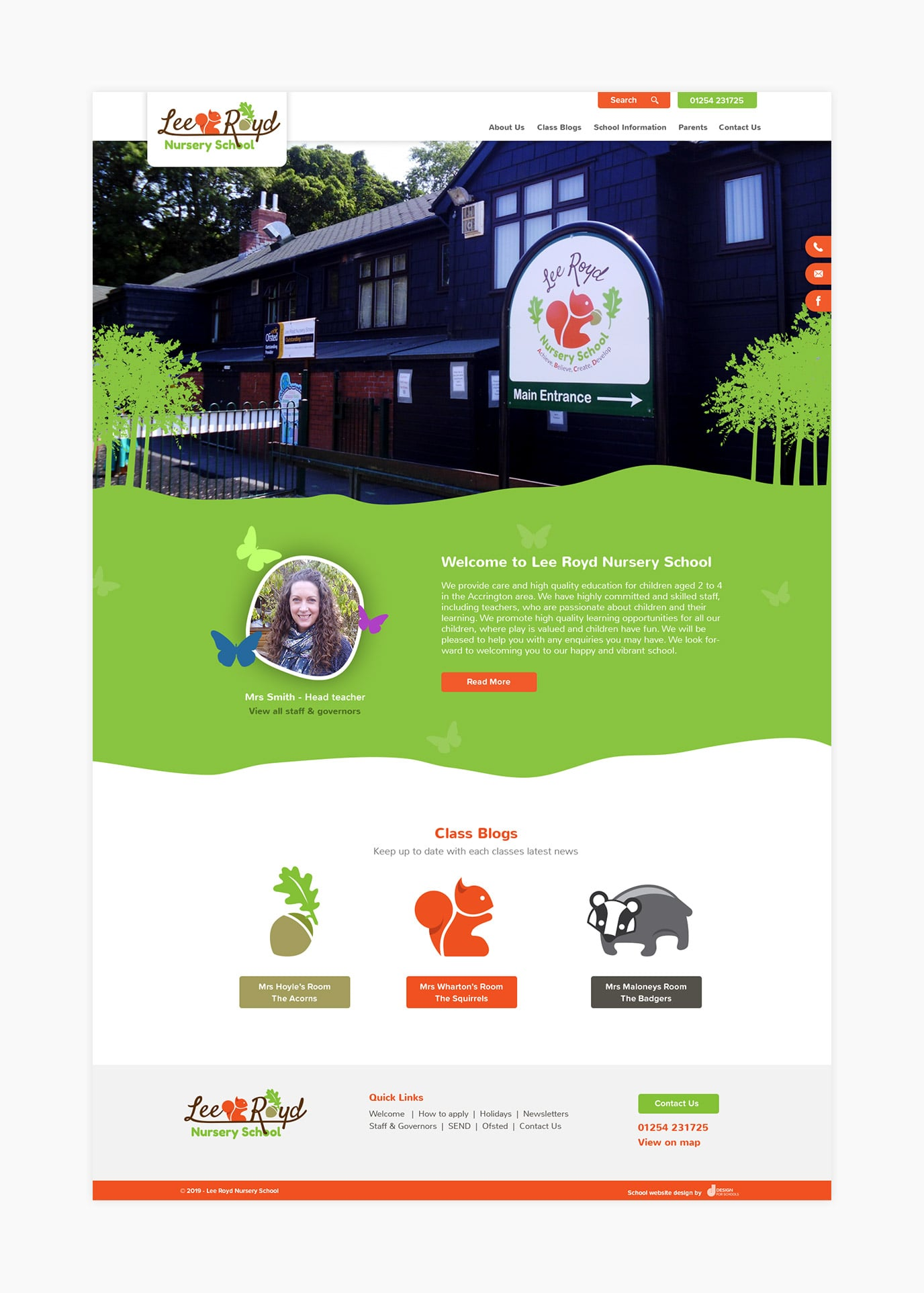 Lee Royd Nursery website design