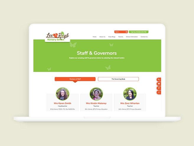 Lee Royd Nursery website designs