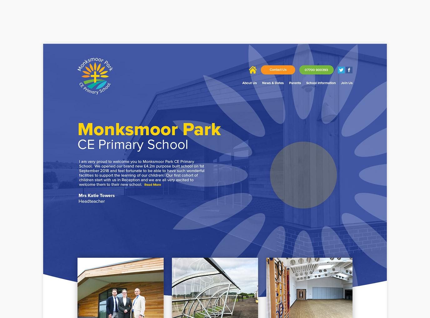 Monksmoor Park Primary School Website Design