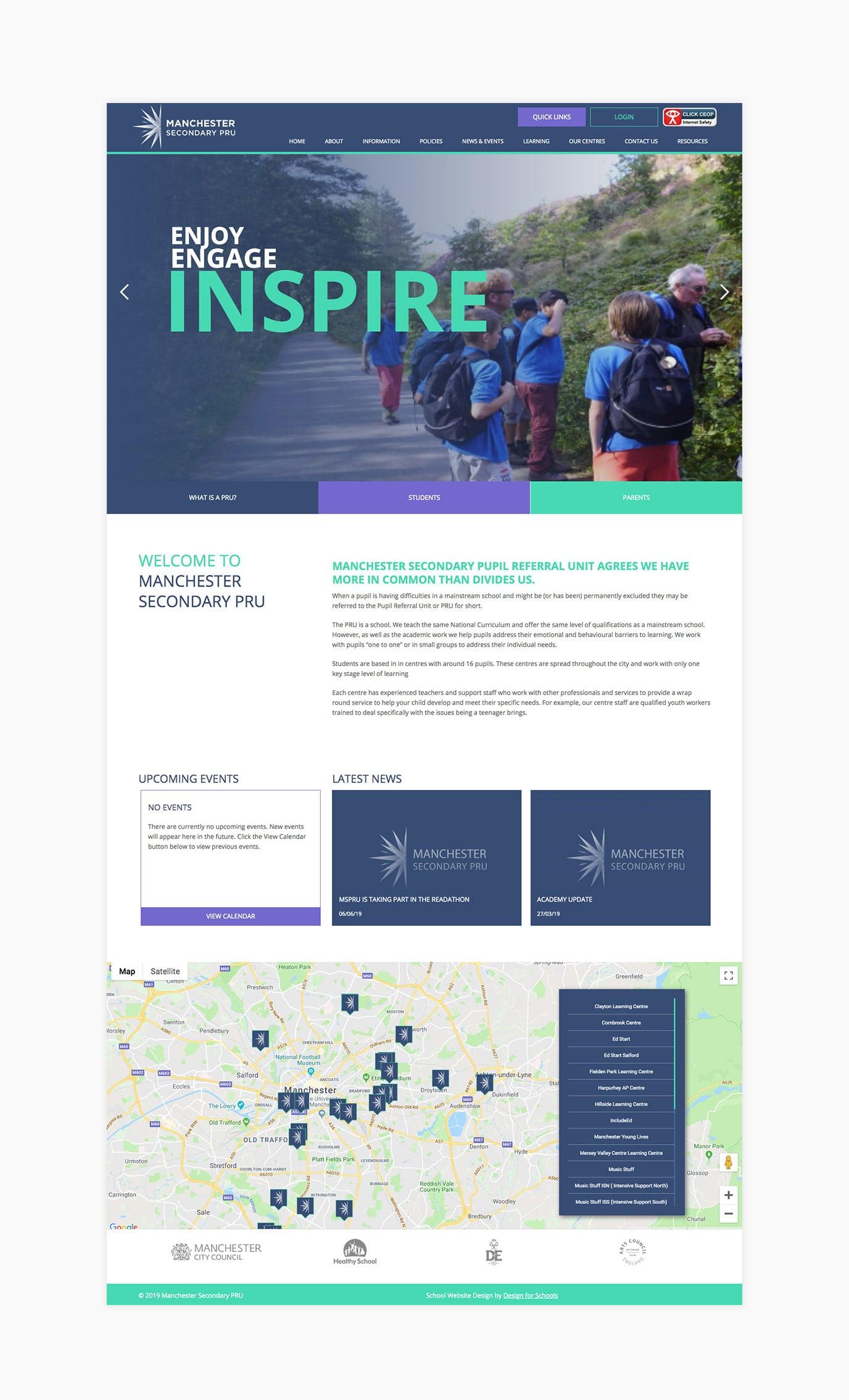 mspru secondary school website design