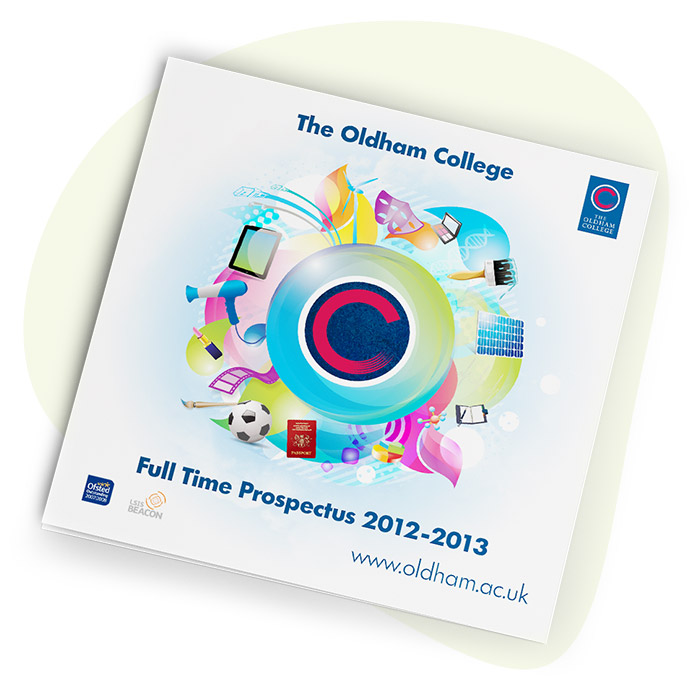 Oldham Sixth Form College Prospectus Front Cover